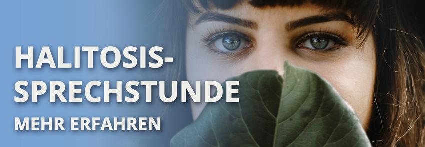 Halitosis-Sprechstunde · Behandlung von Mundgeruch und schlechtem Atem in der Zahnarzt-Praxis Dr. Hähnel